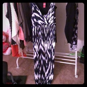 INC navy blue and white maxi dress